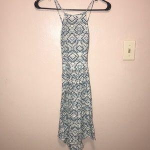 Blue Chevron Sun Dress